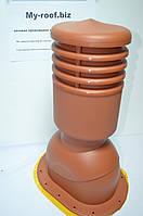 Вентиляционные выходы KRONO-PLAST KPIO 1-6, Ø125, УТЕПЛЕННЫЙ, RAL 8004 кирпичный для битумной черепицы
