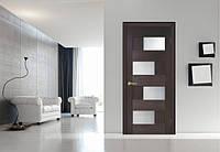 """Межкомнатные двери """"Домино 2 ПВХ (стекло сатин)"""""""