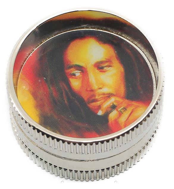 "Гриндер ""Bob Marley"" из 2-х частей. D- 3 см. H- 1,7 см."