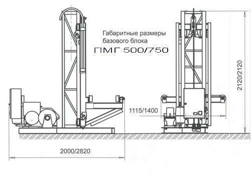 Висота підйому Н-53 метрів. Вантажні щоглові підйомники, Будівельний підйомник з висувною платформою на 750 кг
