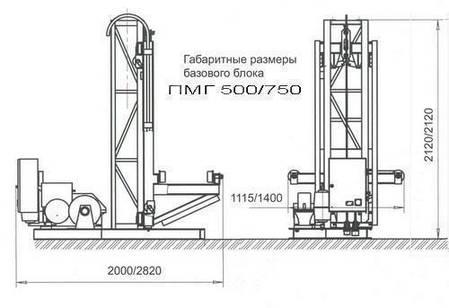 Висота підйому Н-53 метрів. Вантажні щоглові підйомники, Будівельний підйомник з висувною платформою на 750 кг, фото 2