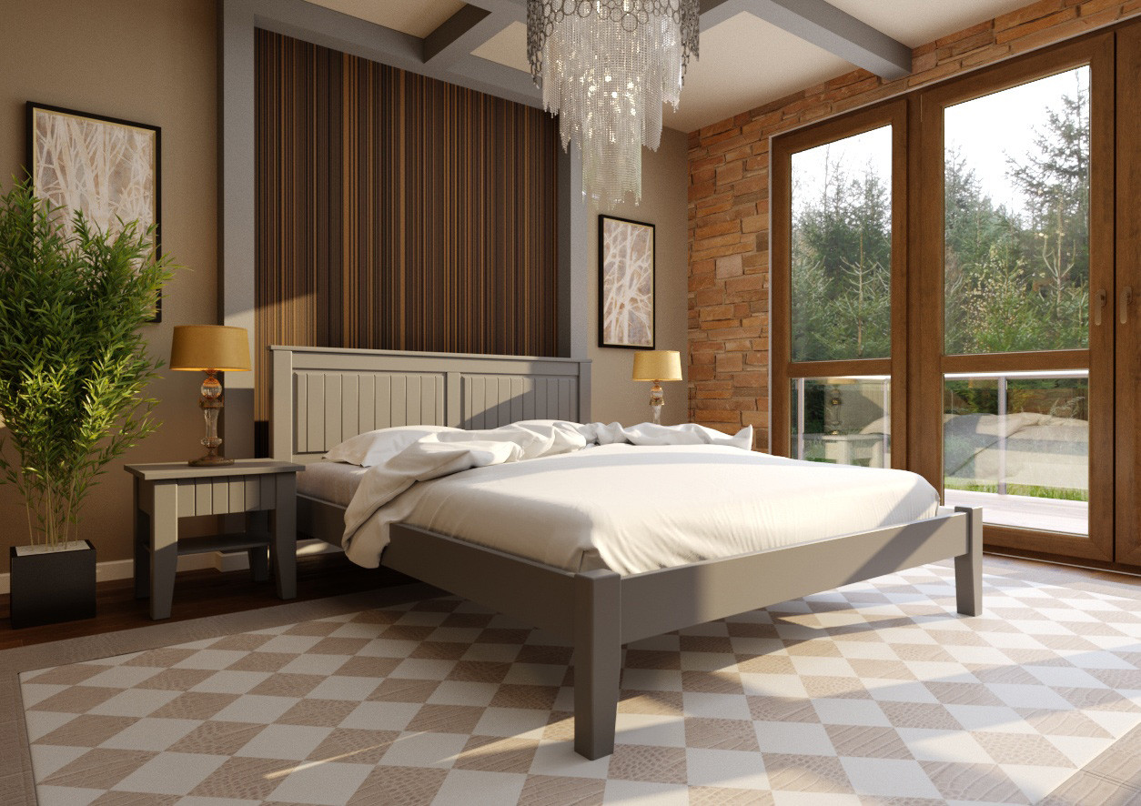 Ліжко Глорія з низьким ізножьем ТМ ЧДК