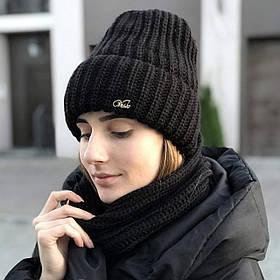 """Модный женский комплект """"Аляска"""" шапка и баф"""