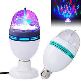 Диско обертається лампа LED lamp для вечірок LASER LY 399 E27 CG07, фото 2