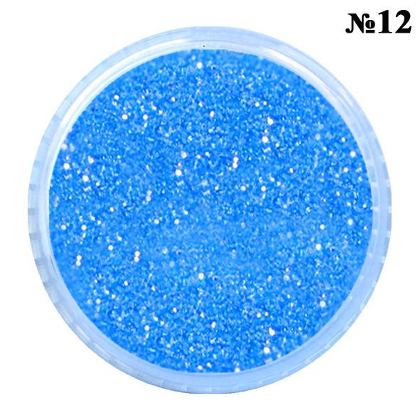 Песочки Блесточки Глиттеры Синего Цвета для Декора и Дизайна Ногтей, в Банках