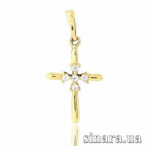 Крестик из желтого золота 23283