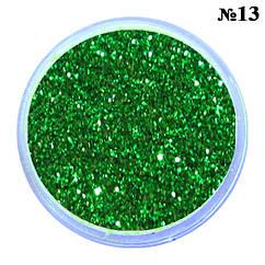 Песочки Блесточки Глиттеры Зеленого Цвета для Декора и Дизайна Ногтей, в Банках
