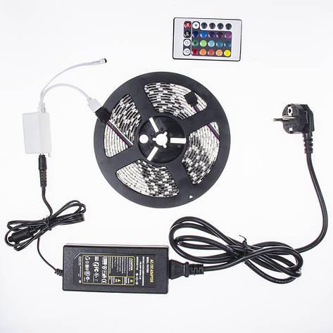 Светодиодная лента 5050 RGB 5 метров 12v (5050 5m+RGB 12v) PR3, фото 2