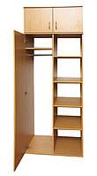 Шкаф для одежды и книг 1-дверный с антресолью (0635+0654)
