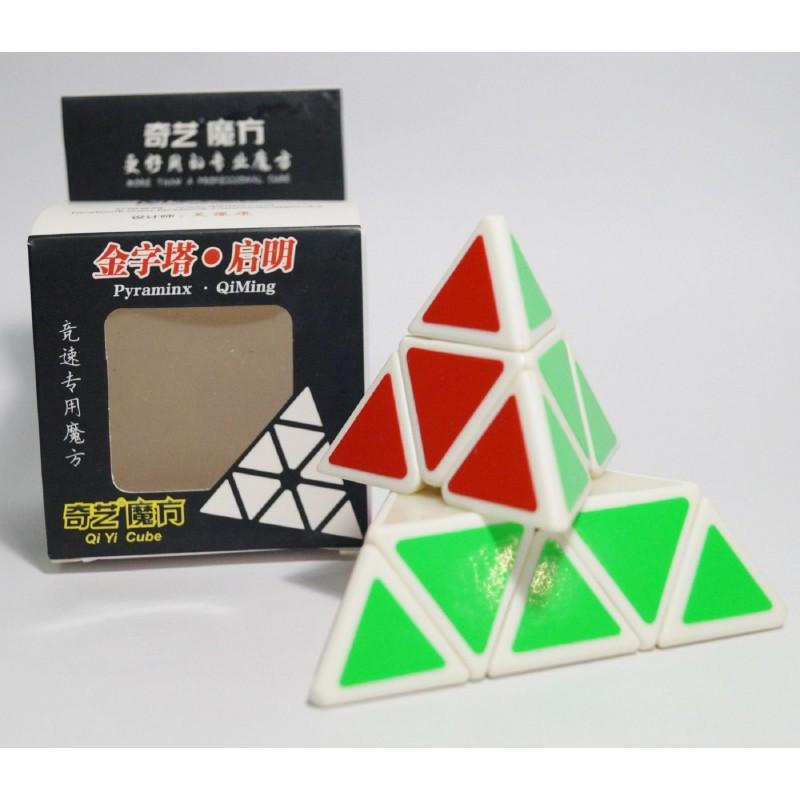 Головоломка Пирамида QIYI белый корпус Pyraminx cube професиональная