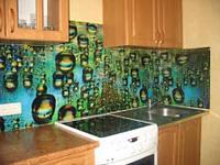 Фартук из стекла (скинали) на кухню под заказ купить в Киеве