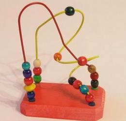 Детский пальчиковый лабиринт.Деревянная игрушка лабиринт на проволке.Лабиринт средний.