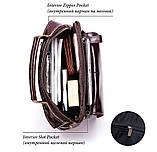 Мужская сумка через плечо Натуральня кожа Барсетка Мужская кожаная сумка для документов планшет Коричневая, фото 10