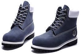 Мужские ботинки Timberland Classic 6 Inch Blue White Boots M размер 41 111927-41, КОД: 241174