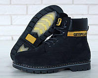 Женские ботинки Caterpillar Winter Boots c мехом (black)