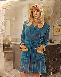 Велюровый женский халат«Angel Story»
