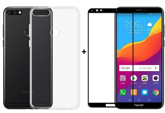 Huawei Honor 7C Pro 3/32+подарки чехол и защитное стекло