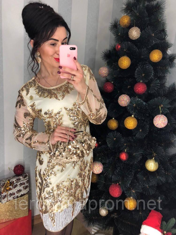 Шикарное платье паетка