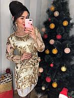 Шикарное платье паетка, фото 1