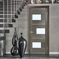 """Межкомнатная дверь """"Куб ПВХ (стекло сатин)"""""""