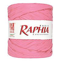 Рафия #9 водоотталкивающая, светло-розовая (200 м) Италия