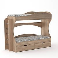 Кровать двухъярусная Бриз Компанит Дуб сонома, КОД: 182402