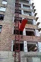 Висота підйому Н-39 метрів. Щоглові підйомники для подачі будматеріалів, Будівельний підйомник з висувною плт., фото 3