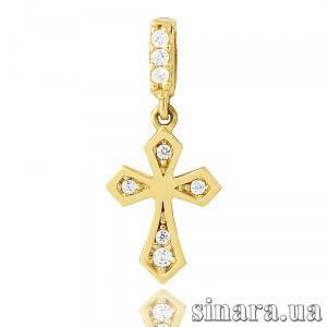Крестик из желтого золота 23284