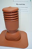 Вентиляционные  выходы KRONO-PLAST KPGO 1-6, Ø 125, УТЕПЛЕННЫЙ,  RAL 8004 кирпичный под покрытие