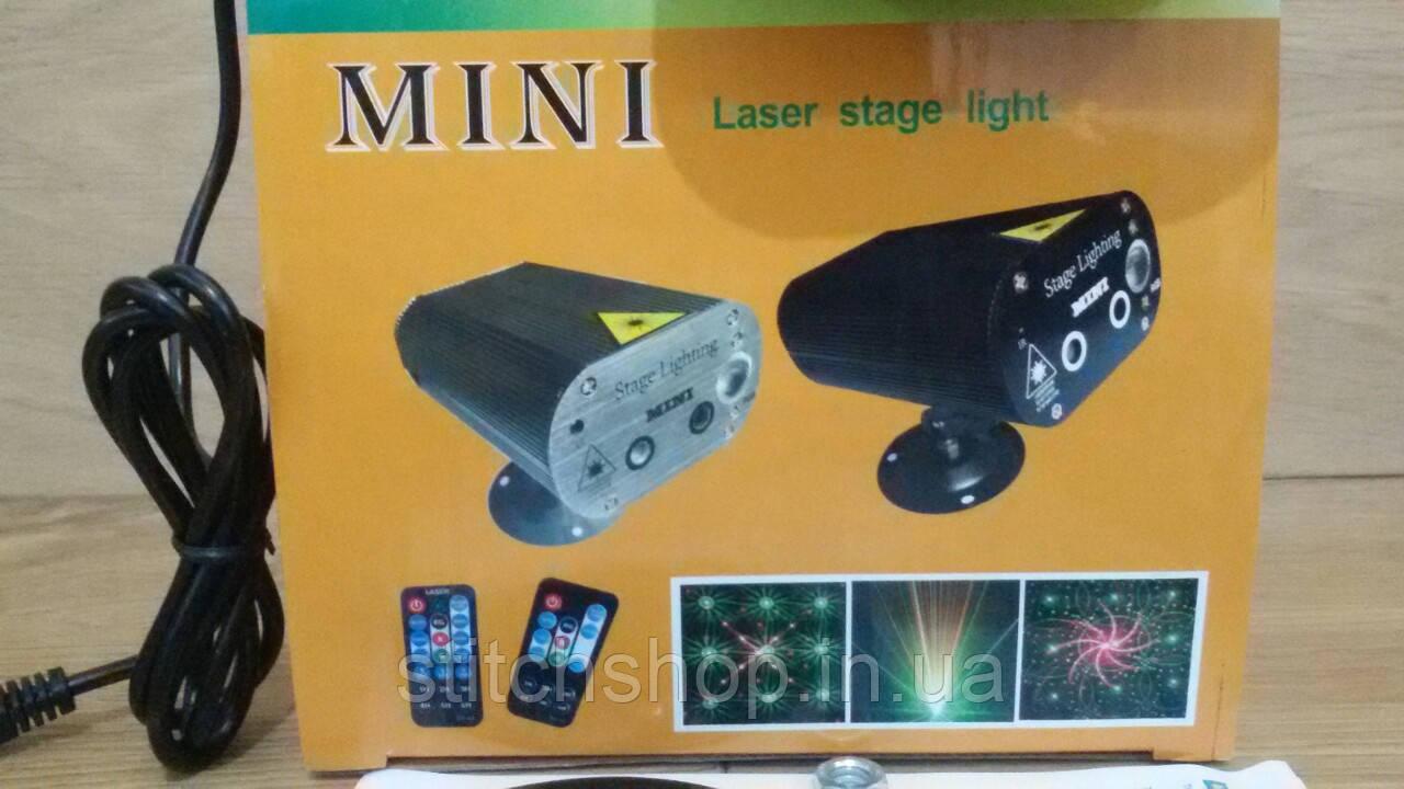 Лазерный проектор mini laser stage light ST-L22 24 двойной сетчатый лазер