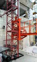 Висота підйому Н-35 метрів. Підйомник вантажний для будівельних робіт з висувною платформою на 750 кг., фото 3