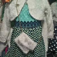 Нарядные платье для девочки с балеро