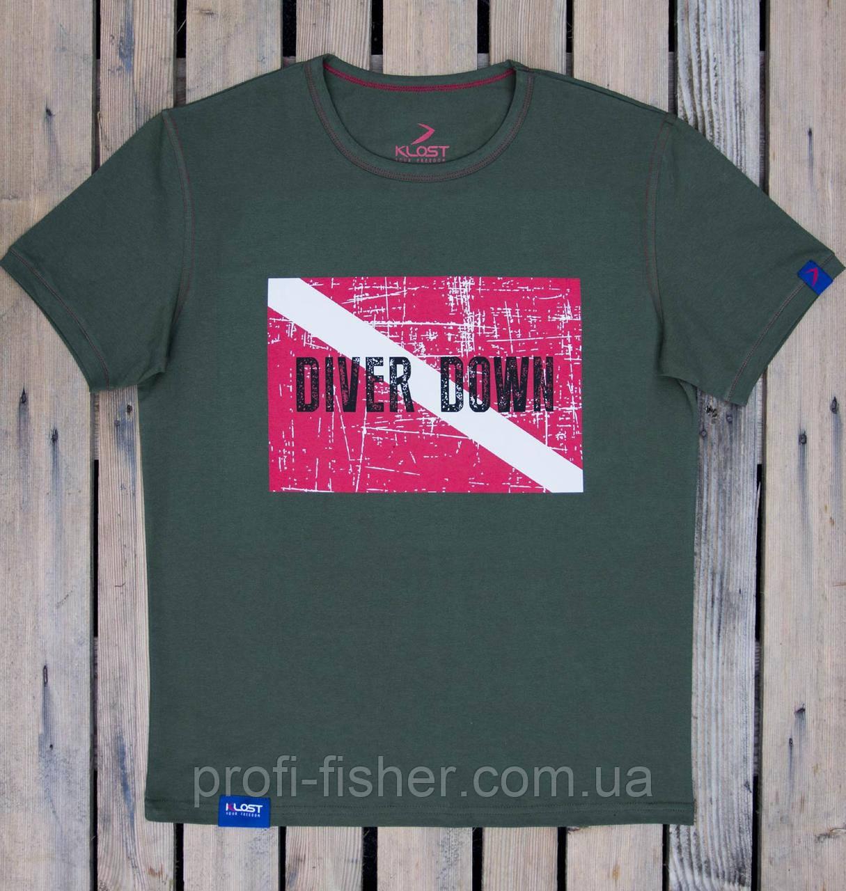 Футболка KLOST Diver Down 70.02 4XL Green
