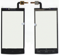 Сенсорный экран (тачскрин) Philips S398 black