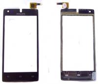 Сенсорный экран (тачскрин) Philips W737 black