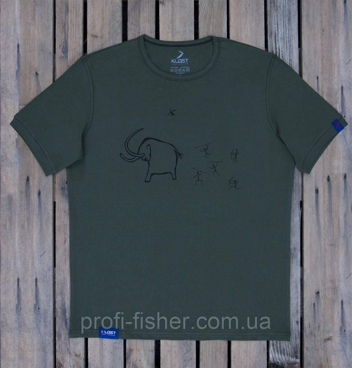 Футболка KLOST Охота на мамонта 70.03 S Green