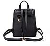 Рюкзак женский кожзам на шнурке Glamur Черный, фото 4