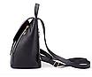 Рюкзак женский кожзам на шнурке Glamur Черный, фото 5