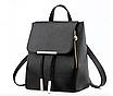 Рюкзак женский кожзам на шнурке Glamur Черный, фото 2