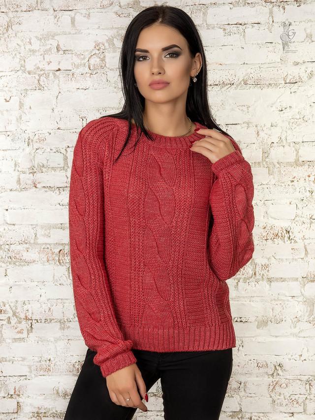 Цвет роза Вязаного женского свитера Николь