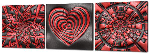Модульная картина Interno Холст Красное на черном 151х49см (R772L)