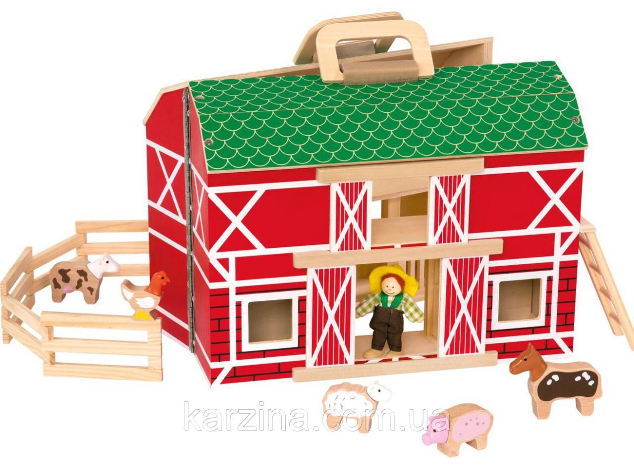 Деревянный игровой набор Ферма Playtive