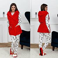 Пижама трикотаж с принтом Минни Мауса