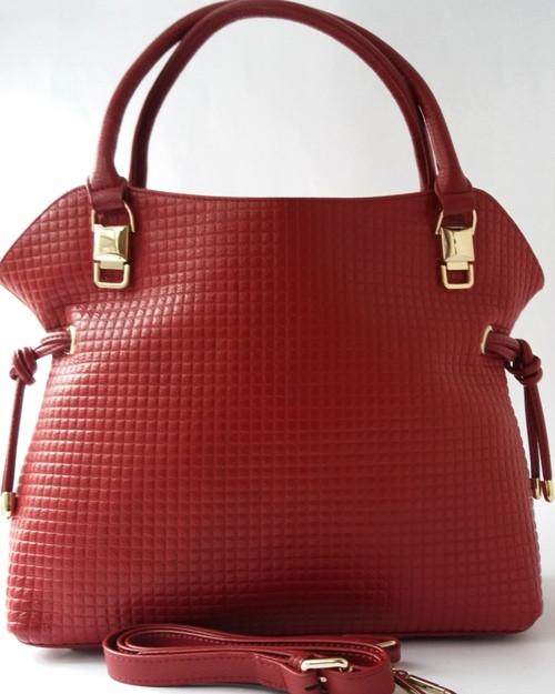 Женская сумка из натуральной кожи тёмно - вишнёвого цвета