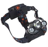 Налобный фонарик BL POLICE 6811 3 диода ОРИГИНАЛ