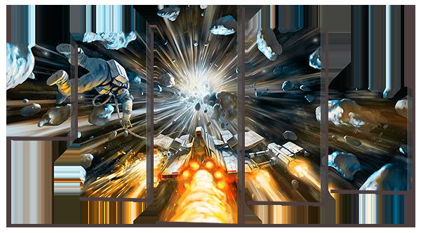 Модульная картина Interno Холст Сквозь космос 108х60см (R742S)