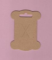 Набор 10 шт. катушки плоские для намотки лент, тесьмы, кружева - изготовлены из коричневого крафт картона 1,5 мм.