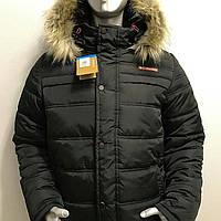 Куртки зимние мужские с утеплителем с капюшоном, пуховики, ветровки ,  Наполнитель холлофайдер,пуховики 0da74bdccee