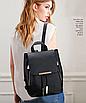 Рюкзак женский кожзам на шнурке Glamur Черный, фото 3