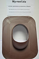 Вентиляционные выходы KRONO-PLAST KPGO 1-1, Ø 125, УТЕПЛЕННЫЙ, RAL 8017 коричневый под покрытие